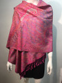 New! Pashmina  Metallic Hot Pink Dozen #1120-5