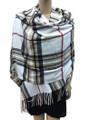 Cashmere Feel shawl  Scarves  White # 76-2