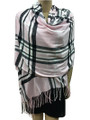 Cashmere Feel shawl  Scarves  Pink # 76-4