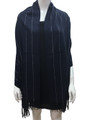 Cashmere Feel shawl  Scarves Navy # 93-3