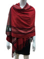 Cashmere Feel shawl  Scarves Red # 94-2