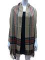Cashmere Feel shawl  Scarves Beige # 94-3