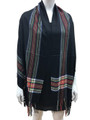 Cashmere Feel shawl  Scarves Black # 94-5
