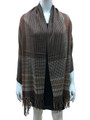 Cashmere Feel shawl  Scarves Brown # 95-3