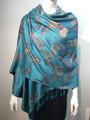 New!   Metallic  Butterfly   Pashmina  Turquoise Dozen #P120-3