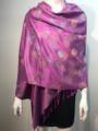 New!   Metallic  Butterfly   Pashmina  Purple Dozen #P120-1