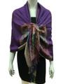 New! Pashmina Paisley Design Purple Dozen  #121-3
