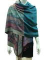 New! Pashmina Paisley Design TealDozen  #121-7