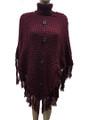 New!  Ladies' Stylish  Poncho Red # P198-5