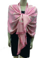 New!   Metallic Flowers Pashmina Pink #125-2