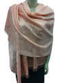 New! Stylish Metallic Pashmina Peach Dozen #125-4
