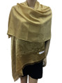 New! Stylish Metallic Pashmina Yellow Dozen #125-4