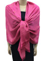 New! Stylish Metallic Pashmina Hot pink Dozen #125-3