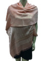 New! Stylish Metallic Pashmina Pink Dozen #125-3