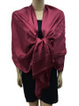 New! Stylish Metallic Pashmina Burgundy Dozen #125-3