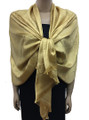 New! Stylish Metallic Pashmina yellow Dozen #125-3