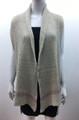 New !  Two Tone Knit Vest  Poncho Beige # P209-1