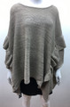 New ! Ladies' Stylish Ruffle Poncho Beige # P211-1
