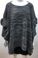New ! Ladies' Stylish Ruffle Poncho Navy # P211-3