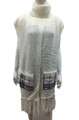 New ! Solid Color Pullover Turtleneck Short Sleeve Poncho White # P213-5