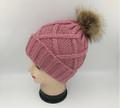 Unisex Beanie Hats with Fur Ball Assorted Dozen #H1198