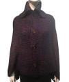 Ladies' Stylish Two-Tone Poncho Purple / Navy # P179-10