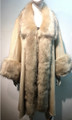 Elegant Women's - Faux Fur  Poncho Cape Beige # P200-1