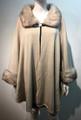 Elegant Women's - Faux Fur  Poncho Cape Beige # P201-1