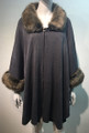 Elegant Women's - Faux Fur  Poncho Cape Gray # P201-4
