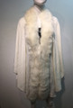 Elegant Women's - Faux Fur  Poncho Cape White # P203-6