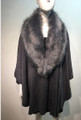 Elegant Women's - Faux Fur  Poncho Cape Gray # P204-4