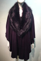 Elegant Women's - Faux Fur  Poncho Cape Purple # P204-5