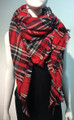 Women's Stylish shawl  Scarf  Red # P171-1024
