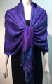 Pashmina Paisley  Purple / blue #50-62