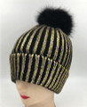 New! Ladies' Stylish Slouchy with Gold foil knit Hats Assorted Dozen #H1204