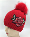 New! Ladies' Stylish Slouchy Rose Flower knit Hats Assorted Dozen #H1203