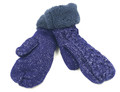 New! Knit Cable  Gloves With Thick Fleece Lined Assorted dozen # G1078
