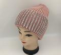 New! Ladies' Stylish Slouchy Rhinestone Stone knit  Hats Pink #H1222