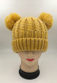 New!  Knit Beanie Hats with Faux Fur Pom Pom Ears  Assorted Dozen #H1196