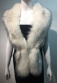Super Soft Faux Fur  Warm Scarf White  #S 81-2