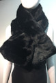 Super Soft Faux Fur  Warm Scarf Black  #S 83-1