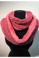 New! Knit Warm Cable Design With Faux Fur lining Infinity  Scarf Assorted Dozen #S 1199