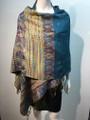 New!    Metallic Pashmina  turquoise Dozen #58-15