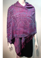 New! Pashmina  Multicolor Purple  Dozen #1120