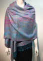 New! Pashmina  Multicolor Turquoise  Dozen #1120