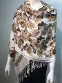 New! Pashmina Butterfly Print  Brown Dozen #81-5