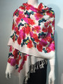 New! Pashmina Butterfly Print  Red Dozen #81-6
