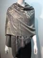 New!   Metallic Pashmina with Flower Gray Dozen #P151-5