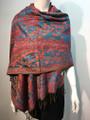 New!  Multicolor Paisley Pashmina  Turquoise / red Dozen #163-4