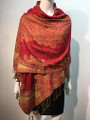 New!   Paisley Pashmina  Red Dozen #P161-2